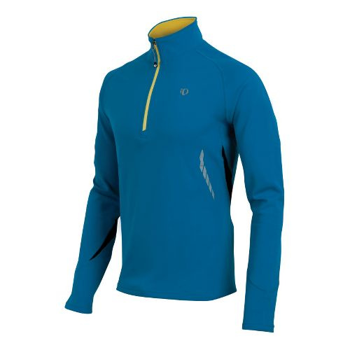 Mens Pearl Izumi Therma Phase Top Long Sleeve 1/2 Zip Technical Tops - True Blue/Lime ...