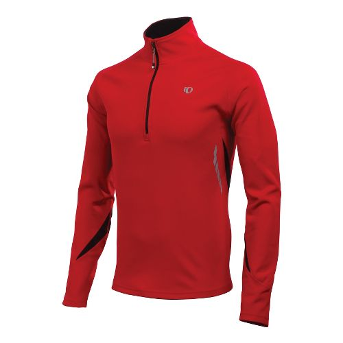 Mens Pearl Izumi Therma Phase Top Long Sleeve 1/2 Zip Technical Tops - True Red/Black ...