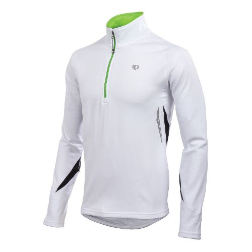 Mens Pearl Izumi Therma Phase Top Long Sleeve 1/2 Zip Technical Tops - White/Black M ...