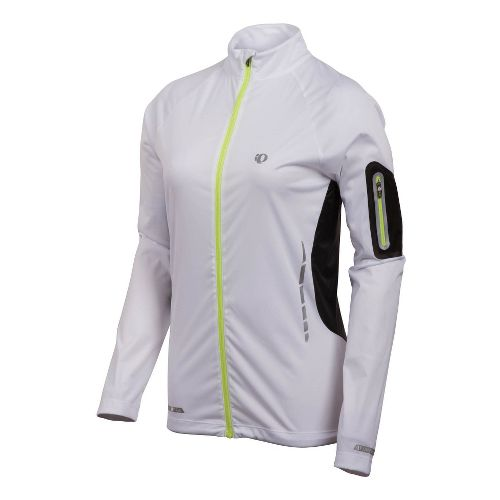 Womens Pearl Izumi Fly Jacket Running Jackets - White XS