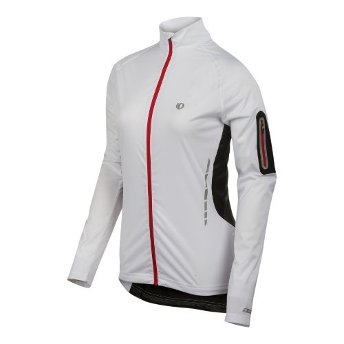 Womens Pearl Izumi Fly Jacket Running Jackets - White/Black L