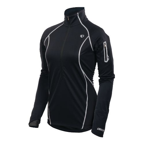 Womens Pearl Izumi Fly Evo Pullover Long Sleeve 1/2 Zip Technical Tops - Black S ...