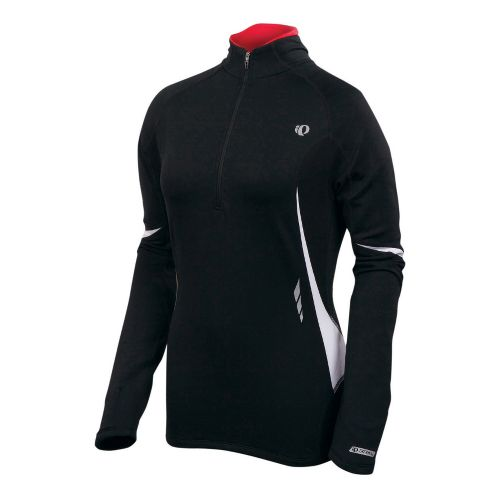 Womens Pearl Izumi Fly Thermal Top Long Sleeve 1/2 Zip Technical Tops - Black M ...