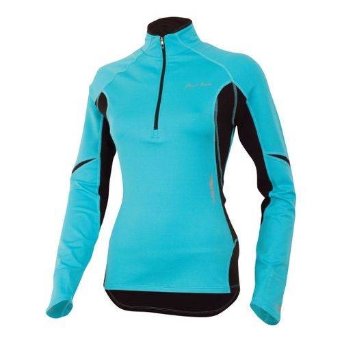 Womens Pearl Izumi Fly Thermal Top Long Sleeve 1/2 Zip Technical Tops - Scuba Blue ...