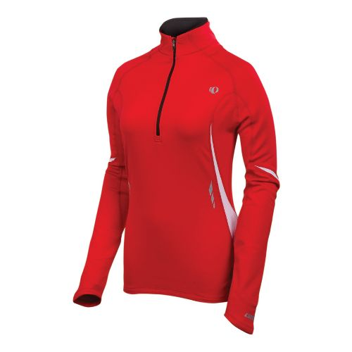 Womens Pearl Izumi Fly Thermal Top Long Sleeve 1/2 Zip Technical Tops - True Red ...