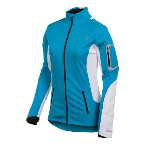 Womens Pearl Izumi Infinity Softshell Running Jackets - Blue Jewel/White L