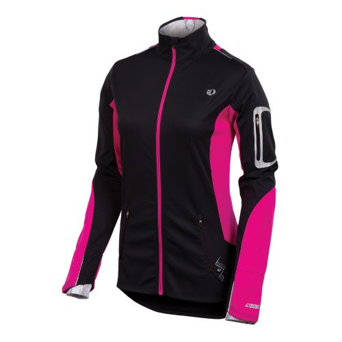 Womens Pearl Izumi Infinity Softshell Running Jackets - Black/Pink Punch L