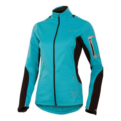 Womens Pearl Izumi Infinity Softshell Running Jackets - Scuba Blue/Black XL