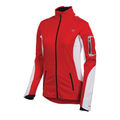 Womens Pearl Izumi Infinity Softshell Running Jackets - True Red/White L