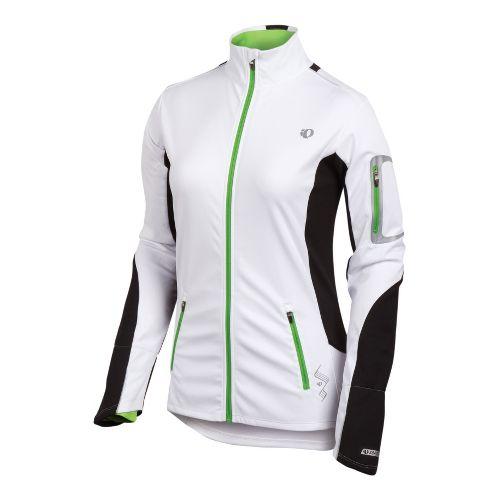 Womens Pearl Izumi Infinity Softshell Running Jackets - White/Black M