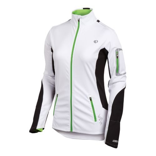 Womens Pearl Izumi Infinity Softshell Running Jackets - White/Black XS