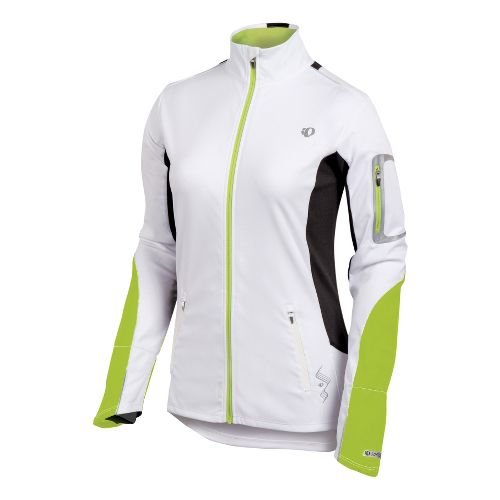 Womens Pearl Izumi Infinity Softshell Running Jackets - White/Lime M