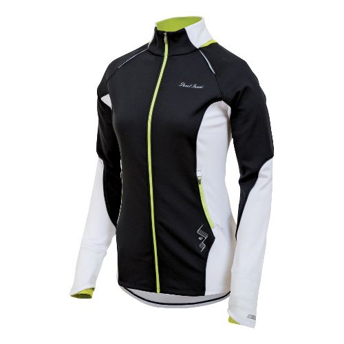 Womens Pearl Izumi Infinity Windblocking Running Jackets - Black/Lime M