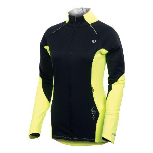 Womens Pearl Izumi Infinity Windblocking Running Jackets - Black/Screaming Yellow XL