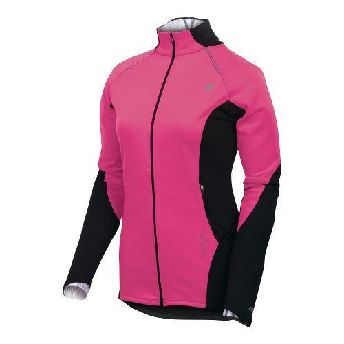 Womens Pearl Izumi Infinity Windblocking Running Jackets - Pink Punch/Black XS