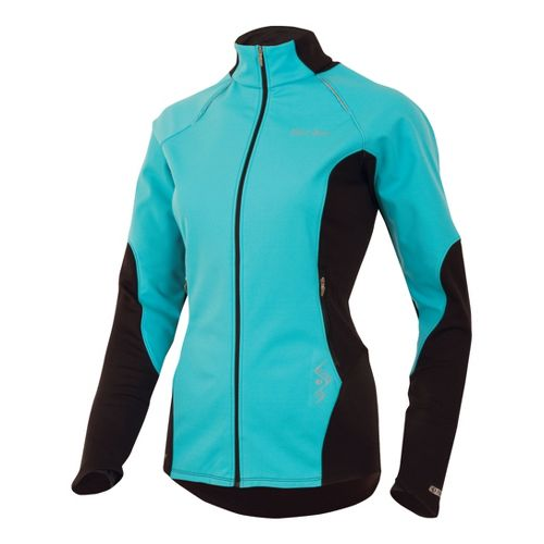 Womens Pearl Izumi Infinity Windblocking Running Jackets - Scuba Blue/Black XL