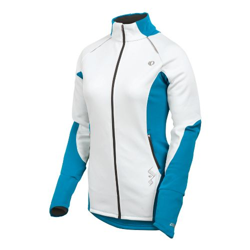 Womens Pearl Izumi Infinity Windblocking Running Jackets - White/Blue Jewel S