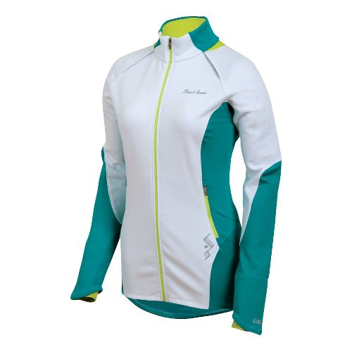 Womens Pearl Izumi Infinity Windblocking Running Jackets - White/Peacock M