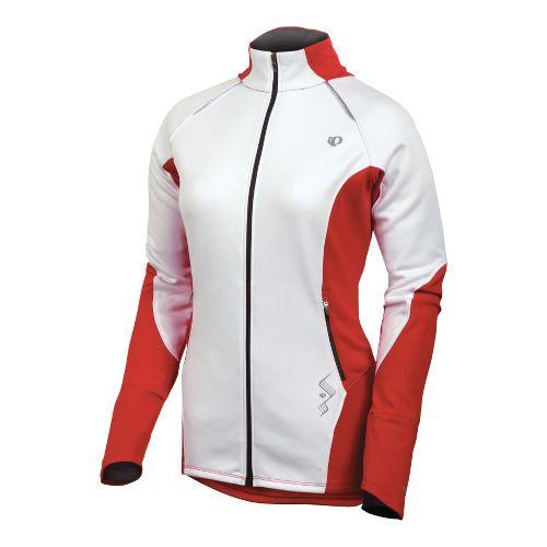 Womens Pearl Izumi Infinity Windblocking Running Jackets - White/True Red M