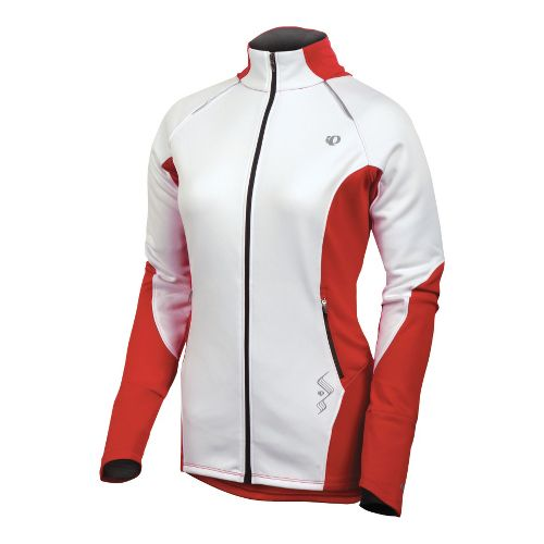 Womens Pearl Izumi Infinity Windblocking Running Jackets - White/True Red XS