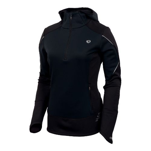 Womens Pearl Izumi Infinity Windblocking Hoody Long Sleeve 1/2 Zip Technical Tops - Black XS ...