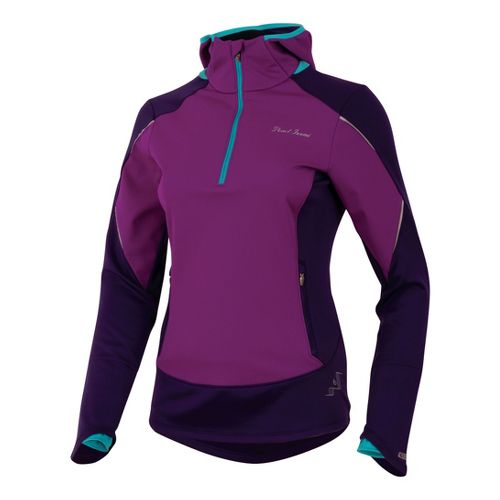 Womens Pearl Izumi Infinity Windblocking Hoody Long Sleeve 1/2 Zip Technical Tops - ...