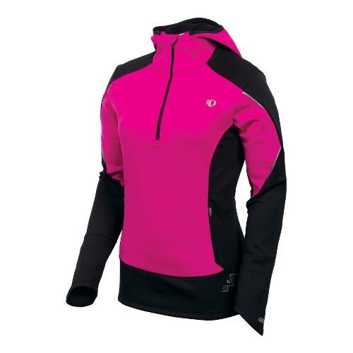 Womens Pearl Izumi Infinity Windblocking Hoody Long Sleeve 1/2 Zip Technical Tops - Pink ...