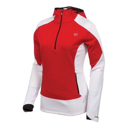 Womens Pearl Izumi Infinity Windblocking Hoody Long Sleeve 1/2 Zip Technical Tops - True ...