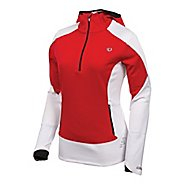 Womens Pearl Izumi Infinity Windblocking Hoody Long Sleeve 1/2 Zip Technical Tops