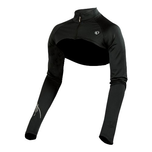 Womens Pearl Izumi Infinity Shrug Long Sleeve Full Zip Technical Tops - Black M