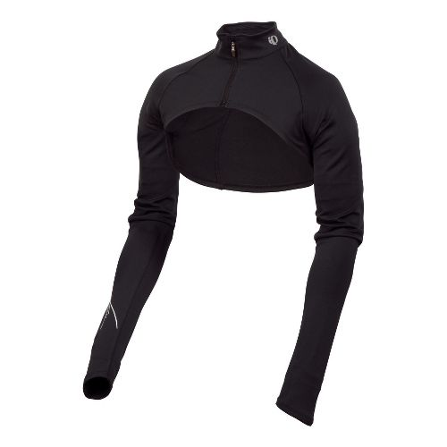 Womens Pearl Izumi Infinity Shrug Long Sleeve Full Zip Technical Tops - Black/Black L