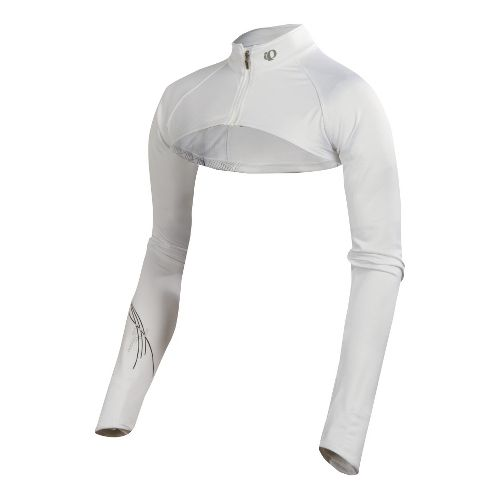 Womens Pearl Izumi Infinity Shrug Long Sleeve Full Zip Technical Tops - White M