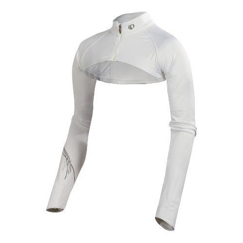 Womens Pearl Izumi Infinity Shrug Long Sleeve Full Zip Technical Tops - White S