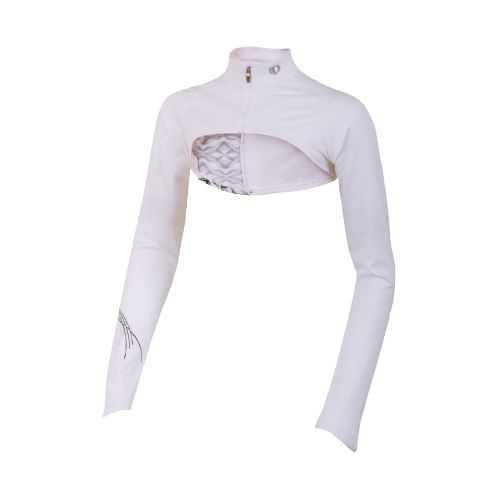 Womens Pearl Izumi Infinity Shrug Long Sleeve Full Zip Technical Tops - White Hex M ...