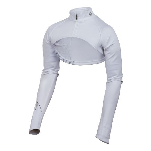 Womens Pearl Izumi Infinity Shrug Long Sleeve Full Zip Technical Tops - White/Pinstripe XL
