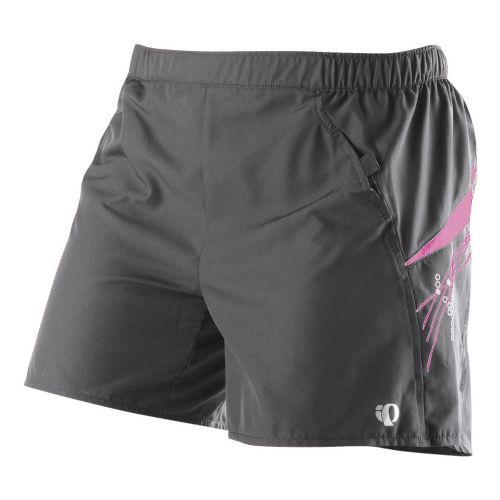 Womens Pearl Izumi Infinity LD Short Lined Shorts - Shadow Grey/Pink Punch L