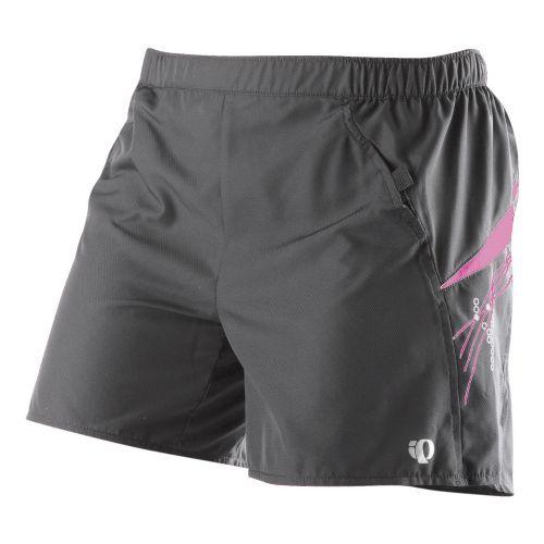 Womens Pearl Izumi Infinity LD Short Lined Shorts - Shadow Grey/Pink Punch XS