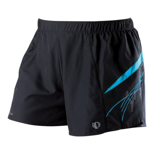 Womens Pearl Izumi Infinity Short Lined Shorts - Black/Blue Jewel XS