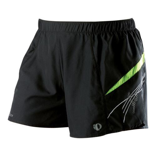 Womens Pearl Izumi Infinity Short Lined Shorts - Black/Green Flash M