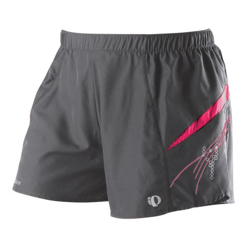 Womens Pearl Izumi Infinity Short Lined Shorts - Shadow Grey/Pink Punch XS