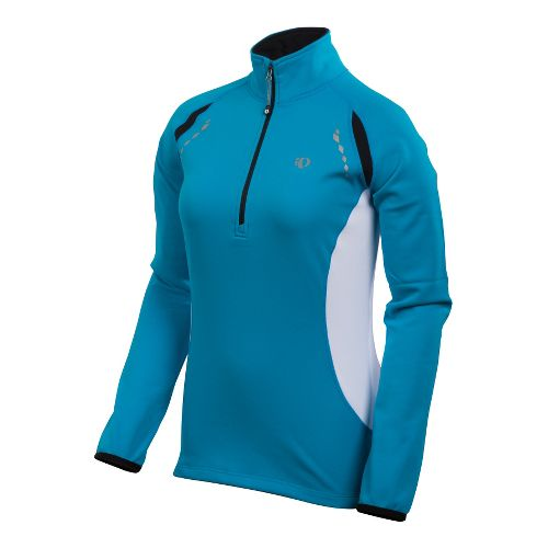 Womens Pearl Izumi Aurora Thermal Top Long Sleeve 1/2 Zip Technical Tops - Blue Jewel ...