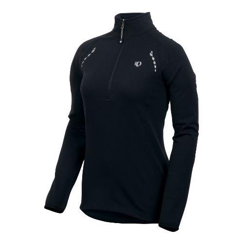 Womens Pearl Izumi Aurora Thermal Top Long Sleeve 1/2 Zip Technical Tops - Black L ...