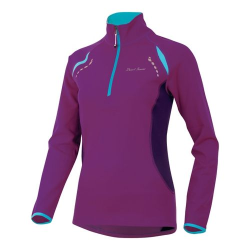 Womens Pearl Izumi Aurora Thermal Top Long Sleeve 1/2 Zip Technical Tops - Orchid XL ...