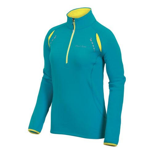 Womens Pearl Izumi Aurora Thermal Top Long Sleeve 1/2 Zip Technical Tops - Peacock L ...