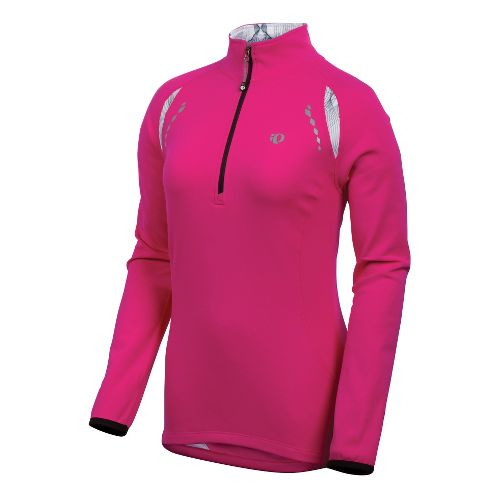 Womens Pearl Izumi Aurora Thermal Top Long Sleeve 1/2 Zip Technical Tops - Pink Punch ...