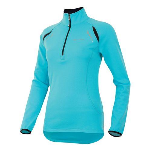 Womens Pearl Izumi Aurora Thermal Top Long Sleeve 1/2 Zip Technical Tops - Scuba Blue ...