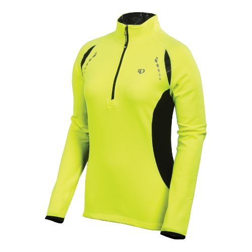 Womens Pearl Izumi Aurora Thermal Top Long Sleeve 1/2 Zip Technical Tops - Screaming Yellow ...