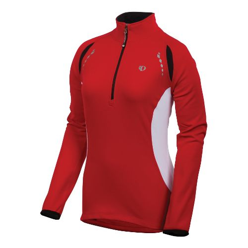 Womens Pearl Izumi Aurora Thermal Top Long Sleeve 1/2 Zip Technical Tops - True Red ...