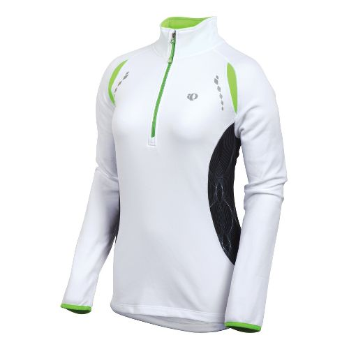 Womens Pearl Izumi Aurora Thermal Top Long Sleeve 1/2 Zip Technical Tops - White M ...