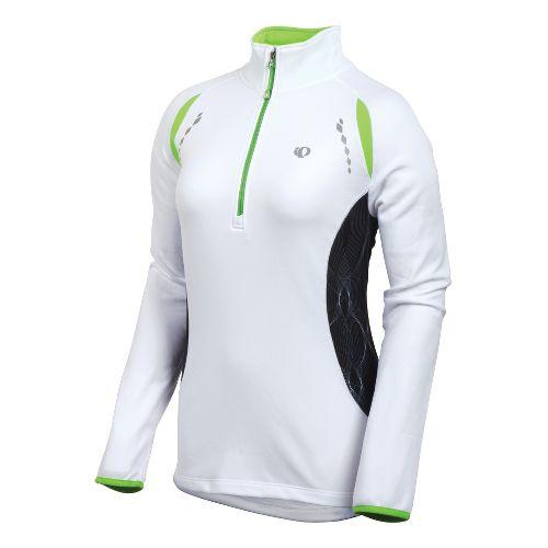 Womens Pearl Izumi Aurora Thermal Top Long Sleeve 1/2 Zip Technical Tops - White S ...